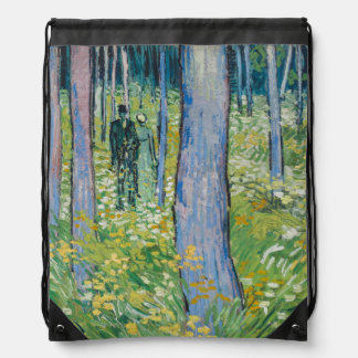 Vincent van Gogh - Undergrowth with Two Figures Cinch Bags