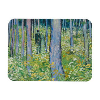 Vincent van Gogh - Undergrowth with Two Figures Rectangular Photo Magnet