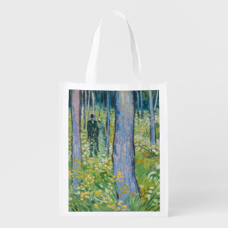 Vincent van Gogh - Undergrowth with Two Figures Market Totes