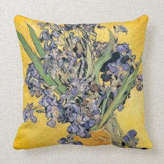 Vincent van Gogh-Vase of Irises Throw Pillow