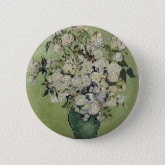 Vincent Van Gogh Vase of Roses Painting Floral Art 6 Cm Round Badge