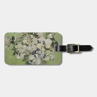 Vincent Van Gogh Vase of Roses Painting Floral Art Luggage Tag