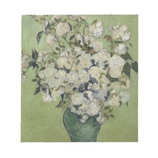 Vincent Van Gogh Vase of Roses Painting Floral Art Notepad