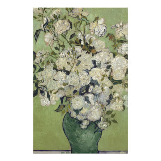 Vincent Van Gogh Vase of Roses Painting Floral Art Stationery