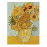Vincent Van Gogh Vase With 12 Sunflowers Postcard