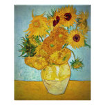 Vincent van Gogh - Vase with 12 Sunflowers Posters