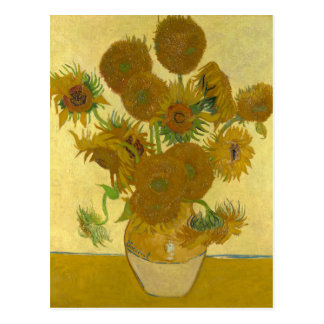 Vincent Van Gogh Vase with 15 Sunflowers Postcard