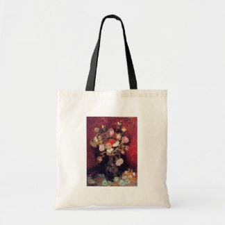Vincent Van Gogh - Vase With Asters And Phlox Tote Bag