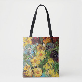 Vincent Van Gogh - Vase With Daisies And Anemones Tote Bag