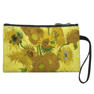 Vincent Van Gogh Vase With Fifteen Sunflowers 1888 Wristlet
