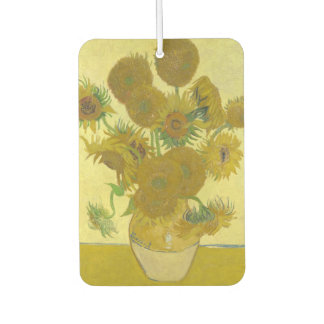 Vincent Van Gogh - Vase with Fourteen Sunflowers Car Air Freshener