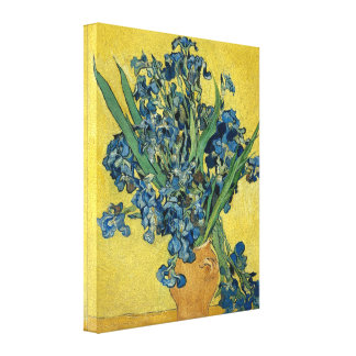 Vincent Van Gogh Vase With Irises Canvas Print
