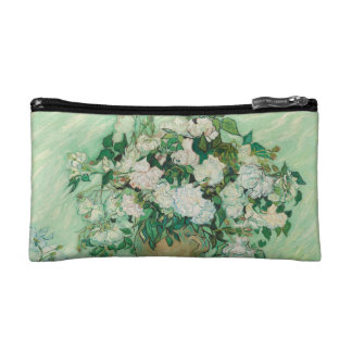 Vincent van Gogh Vase with Pink Roses GalleryHD Cosmetic Bag