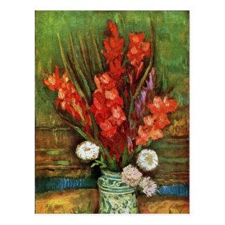 Vincent van Gogh - Vase with Red Gladioli Postcard