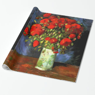 Vincent Van Gogh Vase With Red Poppies Floral Art