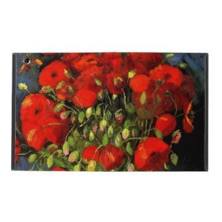 Vincent Van Gogh Vase With Red Poppies Floral Art Case For iPad