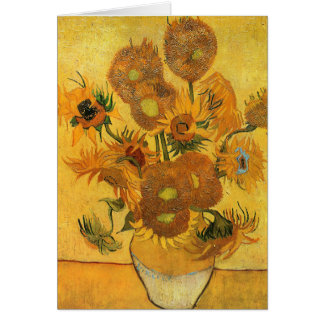 Vincent Van Gogh - Vase with Sunflowers Greeting Card