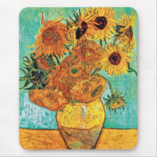 Vincent Van Gogh - Vase With Twelve Sunflowers Mouse Pad