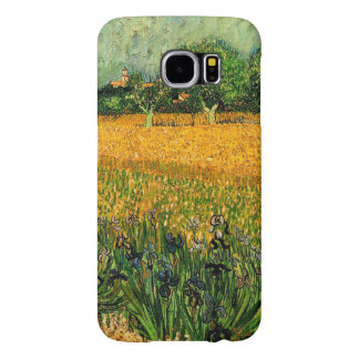 Vincent van Gogh-View of Arles with Irises