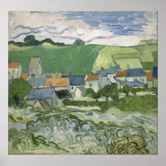 Vincent van Gogh - View of Auvers Poster