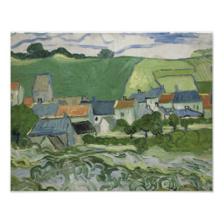 Vincent van Gogh - View of Auvers Poster