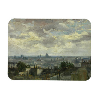 Vincent van Gogh - View of Paris Rectangular Photo Magnet