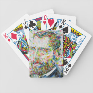 vincent van gogh - watercolor portrait bicycle playing cards