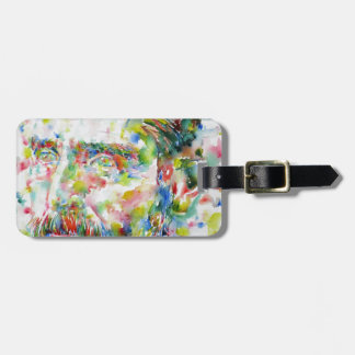 vincent van gogh - watercolor portrait luggage tag