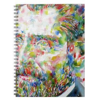 vincent van gogh - watercolor portrait notebook