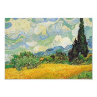 "Vincent Van Gogh Wheat Field 3.5"" X 5"" Invitation Card"