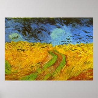 Vincent van Gogh Wheat Field, Post Impressionism Poster