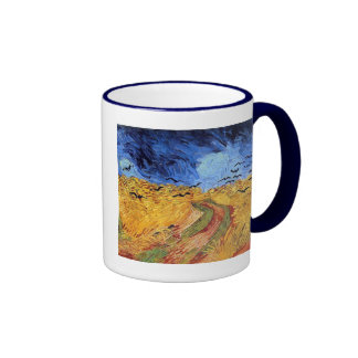 Vincent Van Gogh Wheat Field with Black Crows Coffee Mugs