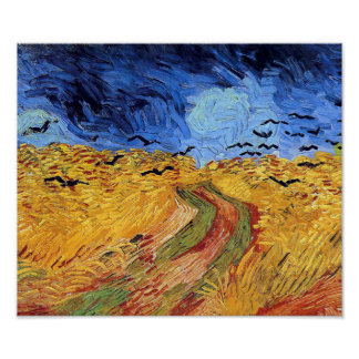 Vincent Van Gogh Wheat Field with Black Crows Print