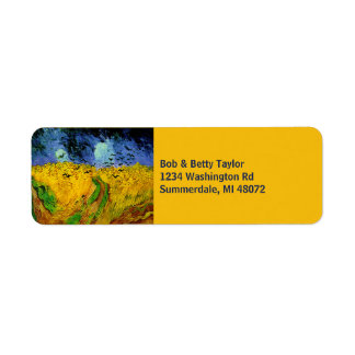 Vincent Van Gogh Wheat Field with Crows Return Address Label