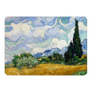 Vincent Van Gogh Wheat Field With Cypresses 13 Cm X 18 Cm Invitation Card