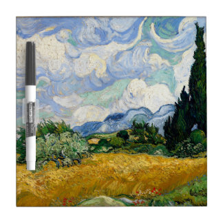 Vincent Van Gogh Wheat Field With Cypresses Dry-Erase Whiteboard
