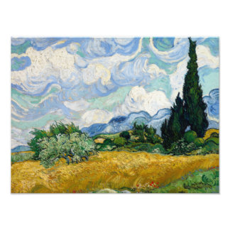 Vincent van Gogh - Wheat Field with Cypresses Photo