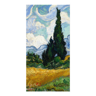Vincent Van Gogh Wheat Field With Cypresses Personalized Photo Card
