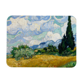 Vincent van Gogh - Wheat Field with Cypresses Rectangular Photo Magnet