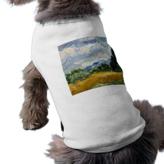 Vincent Van Gogh Wheat Field With Cypresses Sleeveless Dog Shirt