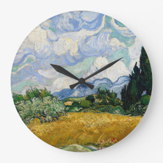 Vincent Van Gogh Wheat Field With Cypresses Wall Clocks