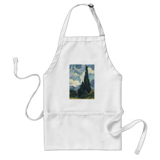 Vincent van Gogh Wheat Fields With Cypresses Adult Apron