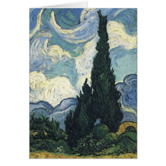 Vincent van Gogh  Wheat Fields With Cypresses Card