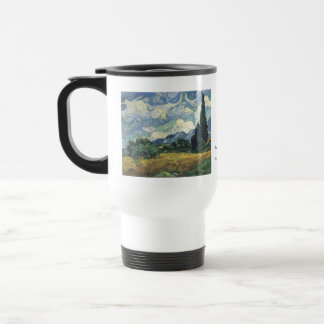 Vincent van Gogh Wheat Fields With Cypresses Stainless Steel Travel Mug
