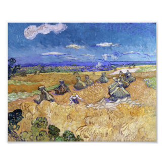 Vincent Van Gogh Wheat Stacks With Reaper Photo Print