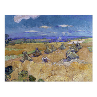 Vincent van Gogh - Wheat Stacks with Reaper Postcard