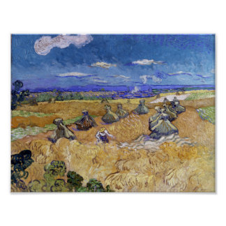 Vincent Van Gogh Wheat Stacks With Reaper Posters