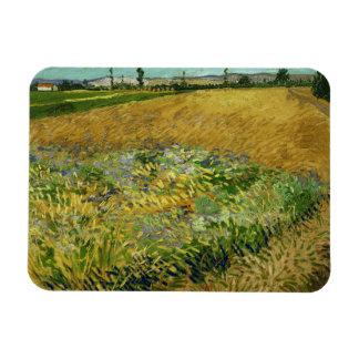 Vincent van Gogh - Wheatfield Rectangular Photo Magnet