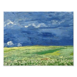 Vincent van Gogh - Wheatfield under Thunderclouds Photographic Print