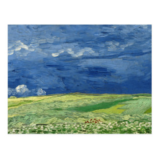 Vincent van Gogh - Wheatfield under Thunderclouds Postcard